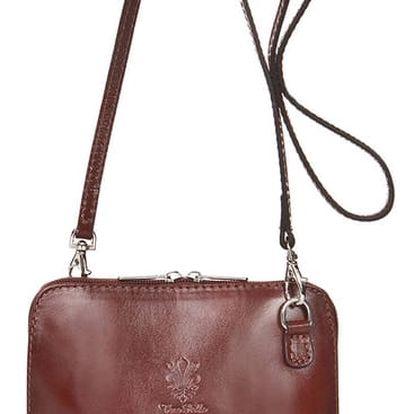 Hnědá kožená kabelka Grey Labelz Jacintha