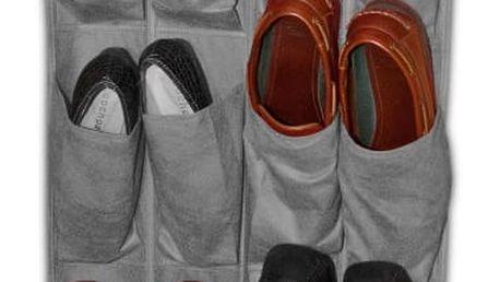 Šedý závěsný organizér na boty JOCCA Twenty, 13548cm
