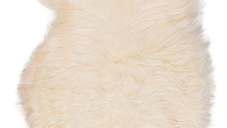 Bílá ovčí kožešina s dlouhým chlupem Ptelja,110x60cm