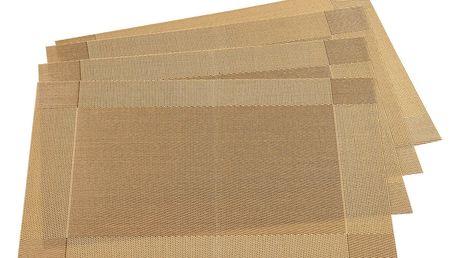 Jahu Prostírání Harmonie zlatá, 30 x 45 cm, sada 4 ks