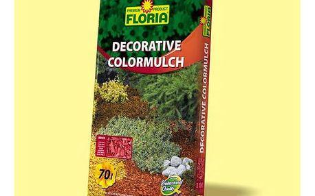 Kůra Agro FLORIA decor. ColorMulch cihlová, 70 l