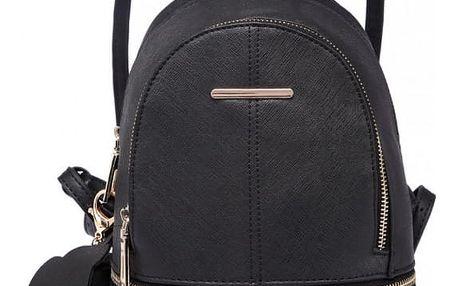 Dámský černý batoh Geisha 1705