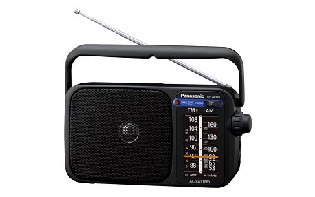 Radiopřijímač Panasonic RF-2400DEG-K černý (RF-2400DEG-K)