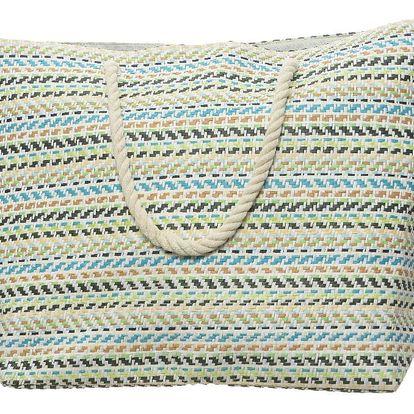 Plážová taška Stripes modrá, 60 x 40 cm