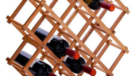 Bambusový stojan na víno - 10 lahví, ZELLER