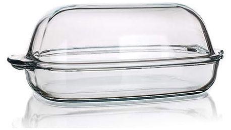 SIMAX Pekáč skleněný hranatý s víkem 8 l