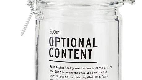 House Doctor Skleněná dóza Optional Content 600 ml, čirá barva, sklo