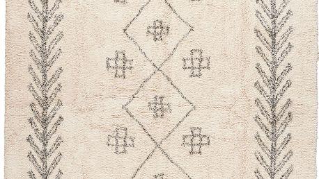 IB LAURSEN Bavlněný koberec Deep-pile 120x180, béžová barva, krémová barva, textil