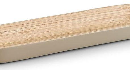 Mísa na ovoce, saláty, cukrovinky - 100% bambus, 35x12 cm, šedá barva, ZELLER