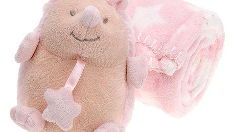 Emako Maskot s dekou pro dítě - 75 x 100 cm, ježek