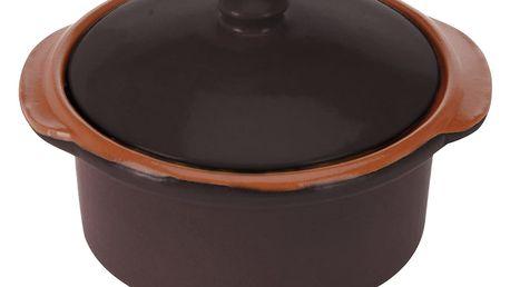 Keramický hrnec s poklicí, ohnivzdorné nádobí 300 ml EH Excellent Houseware