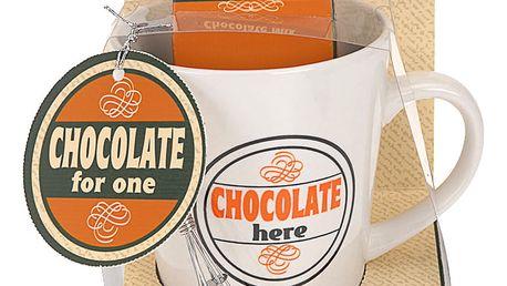 Vánoční dárkový set: hrnek Chocolate hero, oranžová barva Emako