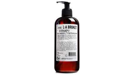 L:A BRUKET Vlasový šampón koriandr a černý pepř 450 ml, hnědá barva, plast