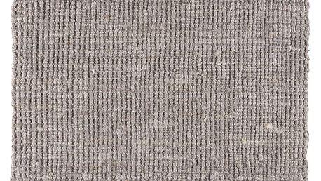 IB LAURSEN Jutový koberec Grey 60x90, šedá barva, textil