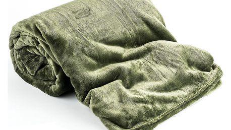 Jahu Deka Light Sleep tmavě zelená, 150 x 200 cm