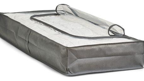 Vak na ložní prádlo, oblečení, šedá barva, 103x45x15 cm, ZELLER