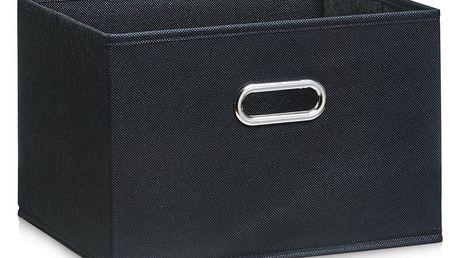 Koš pro skladování potravin, organizér, černá barva, 33 x 26 x 22 cm, ZELLER