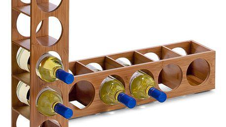 Bambusový stojan na víno - 5 lahví ZELLER