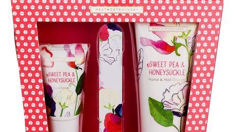 HEATHCOTE & IVORY Dárková sada péče o ruce Sweet Pea & Honeysuckle, růžová barva, multi barva, plast, papír