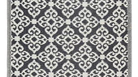 IB LAURSEN Plastový koberec Recykled Black 90x180, černá barva, plast