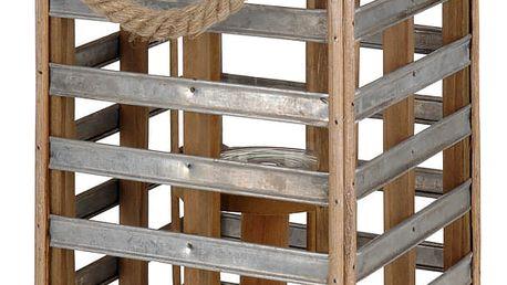 Home Styling Collection Kovová lucerna s úchytem, svícen dekorativní