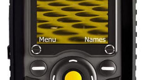 Mobilní telefon Caterpillar CAT B25 (TECH-GSM2-00220) černý SIM karta T-Mobile SIM s kreditem T-mobile Twist V síti 200 Kč kredit v hodnotě 200 Kč