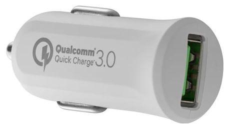 Autonabíječka Avacom CarMAX, 1x USB (3A), s funkcí rychlonabíjení QC 3.0 (NACL-QC1X-WW) bílý