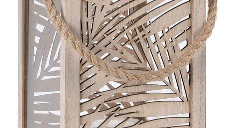 Lucerna LEAF DESIGN - na svíčku, 18x26 cm Home Styling Collection