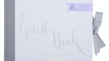 Busy B Svatební kniha hostů, šedá barva, bílá barva, papír