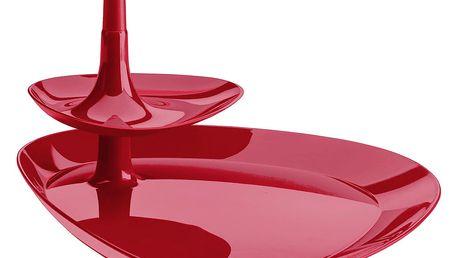 Podnos na občerstvení BETTY TRAY - barva vínová, KOZIOL