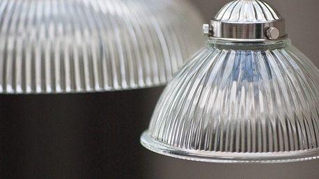 Garden Trading Závěsná lampa Petit Paris, stříbrná barva, čirá barva, sklo