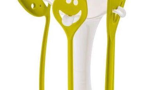Kuchyňské náčiní ve stojanu - sada MEETING POINT - olivová barva, KOZIOL