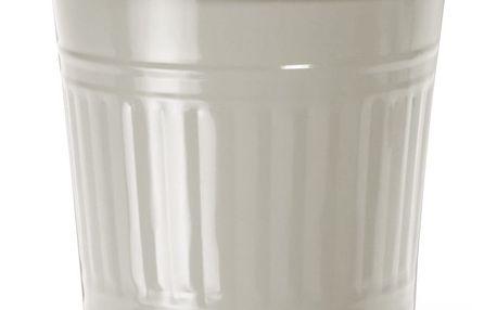 Garden Trading Malý odpadkový koš Clay, šedá barva, kov