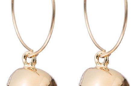 DECADORN Kroužkové náušnice Tumbled Clear Quartz/Gold, zlatá barva, čirá barva, kov, kámen
