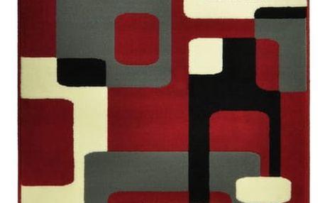 Červený koberec Hanse Home Hamla Retro, 120x170cm