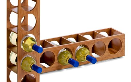ZELLER Bambusový stojan na víno - 5 lahví