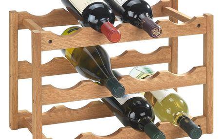 Dřevěný stojan NORWAY na víno - 12 lahví WENKO