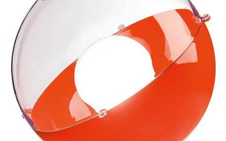 Stojací lampa ORION - barva červená s průhledným krytem, KOZIOL