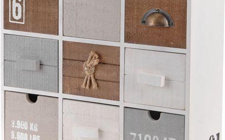 Skříňka - úložný box se 9 zásuvkami Home Styling Collection