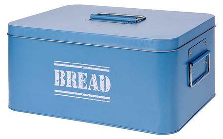 EH Excellent Houseware Kovový kontejner na chleba BIN TIN - s víkem, kontejner na chleba