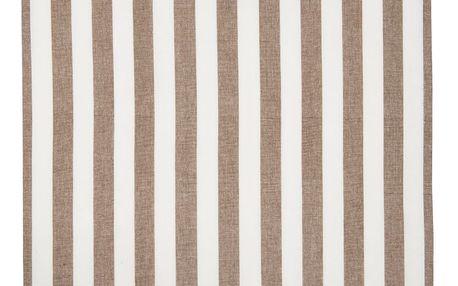 IB LAURSEN Utěrka Stripes brown, hnědá barva, textil
