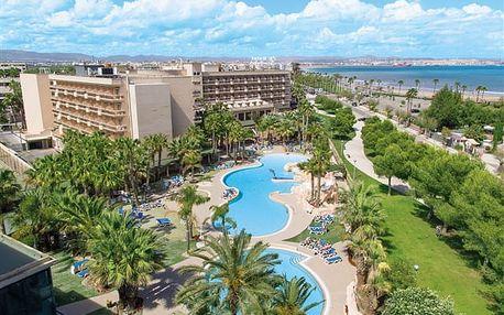 Palas Pineda - oblíbený hotel v tišší části střediska se zlatavou pláží