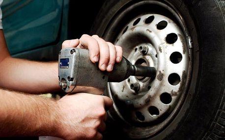 Přezutí pneumatik včetně vyvážení a káva