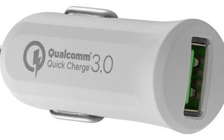 Autonabíječka Avacom CarMAX, 1x USB (3A), s funkcí rychlonabíjení QC 3.0 (NACL-QC1X-WW) bílá