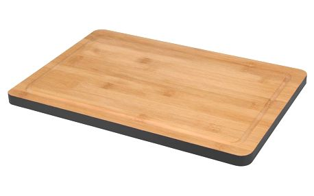 EH Excellent Houseware Dřevěné prkénko, hranatý tvar, černá barva, bambus