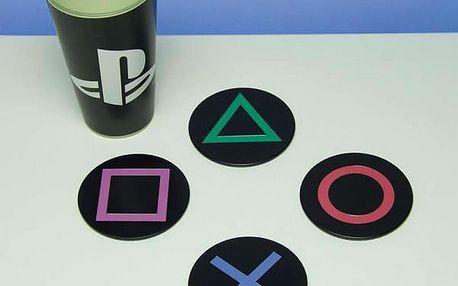 Kovové podtácky Playstation