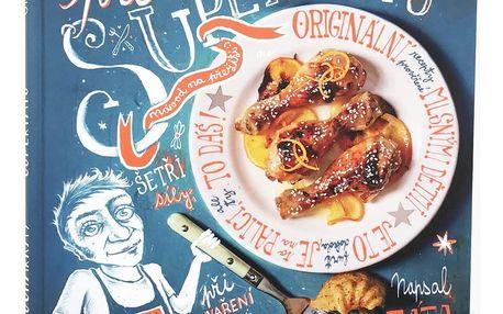 Kuchařka pro supertátu - Ondřej Holinka, modrá barva, papír