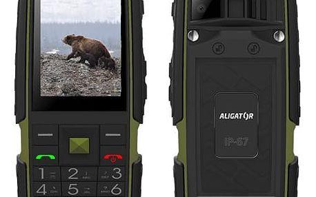 Mobilní telefon Aligator R20 eXtremo černý/zelený (AR20BGN)