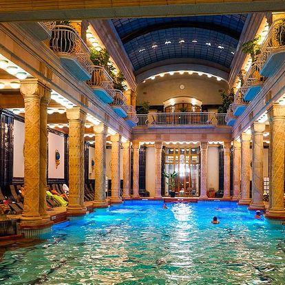 Danubius Hotel Gellért Budapešť, luxusní pobyt se vstupenkou do lázní, po celý rok