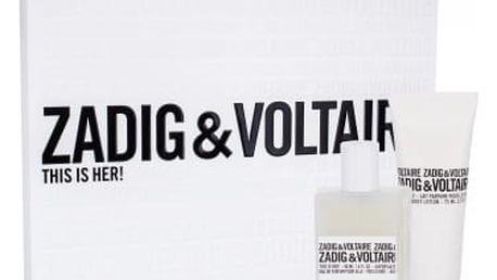Zadig & Voltaire This is Her! dárková kazeta pro ženy parfémovaná voda 50 ml + tělové mléko 75 ml